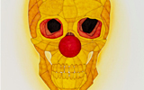 Clown Skull 1 - yellow